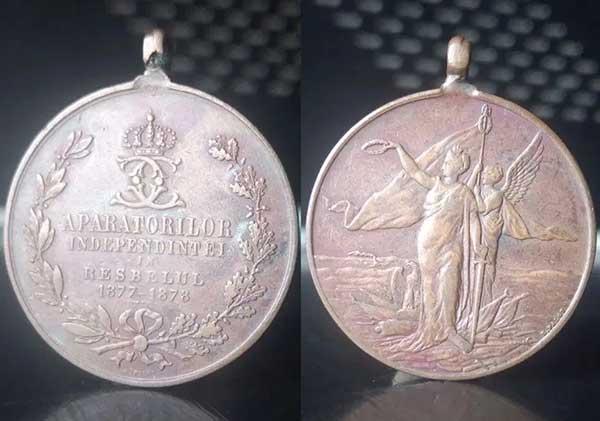 Medalia Apărătorilor Independinţei în Resbelul 1877-1878 - Carol I